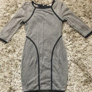 Women's Gray Mini Net Dress